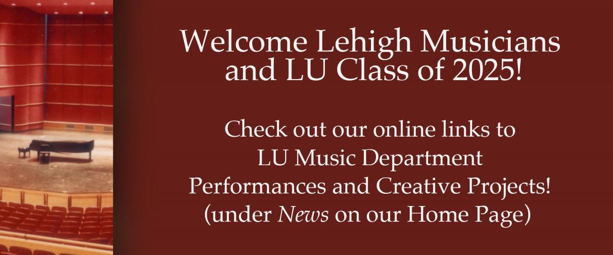 Welcome LU Class of 2025